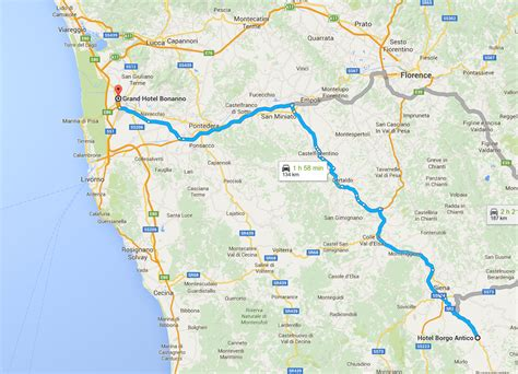 map on road tuscany road map www pixshark images galleries