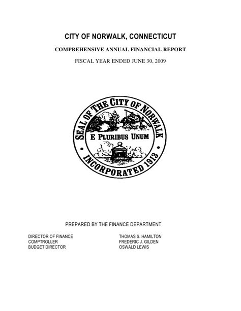 Gfoa Transmittal Letter Financial Statement Template