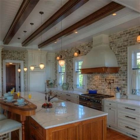brick kitchen designs backsplash brick kitchen design home decor pinterest