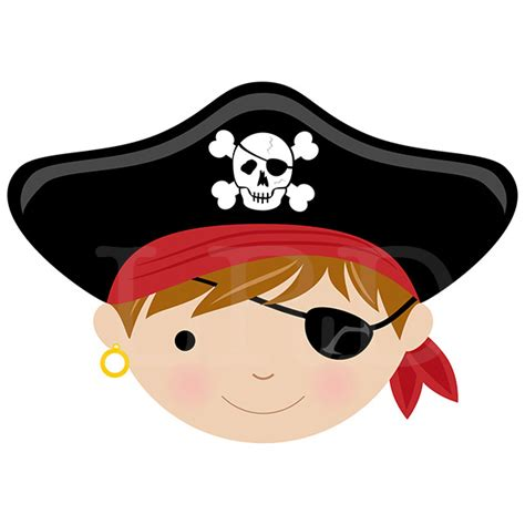Cool House Clocks Pirate Face Personalized Placemat Pirate Placemat Kids