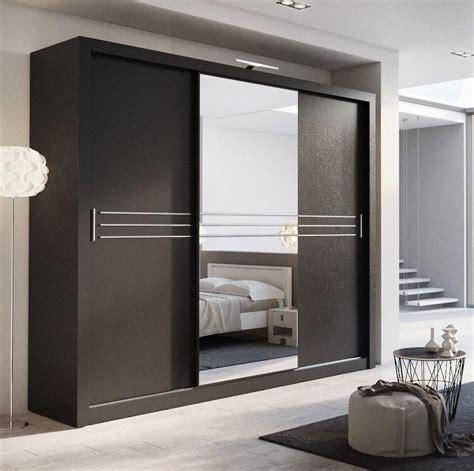 Black Sliding Door Wardrobe by 250 3 Sliding Door Wardrobe In Black Arthauss