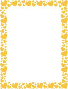 Snow Cornice Printable Yellow Heart Border Free Gif Jpg Pdf And Png
