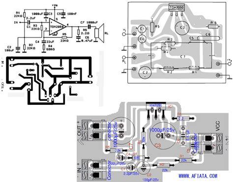 pcb design circuit diagram tda2050 layout and circuit electronic circuit diagram