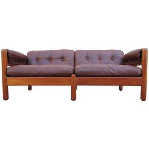 danish modern sofa for sale fine teak and leather danish modern sofa by a mikael