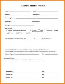 leave request letter format 6 leave application form addressing letter