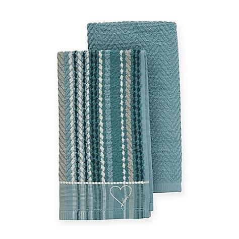 ellen degeneres kitchen buy ed ellen degeneres kitchen towels in aqua set of 2