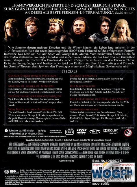 thrones wann staffel 5 of thrones staffel 1 box 5 dvds dvd filme
