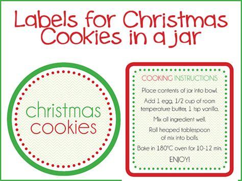 printable christmas jar labels christmas cookies in a jar labels the organised
