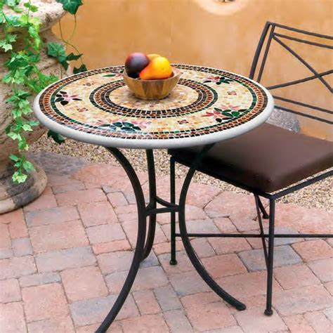 Knf Garden Designs Knf Mosaic Bistro Table 30 Quot Mosaic Patio Table