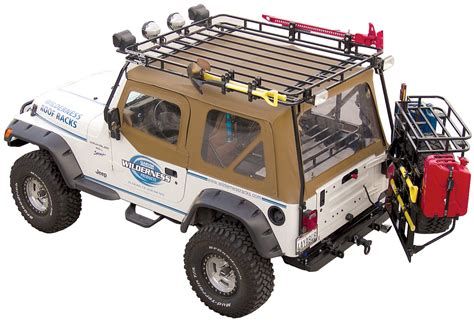 Tj Cargo Rack by Garvin 169 34098 Wilderness Expedition Rack For 97 06 Jeep