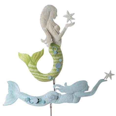 mermaid tree topper coastal christmas pinterest