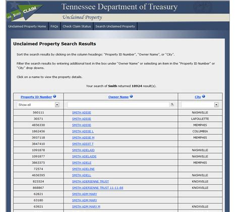 Unclaimed Assets Free Search Search For Unclaimed Property Pdf