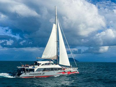 catamaran cruise great barrier reef great barrier reef tours cairns passions of paradise