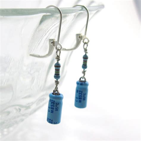 capacitor and resistor original lucky capacitor and resistor earrings by techcycle on deviantart