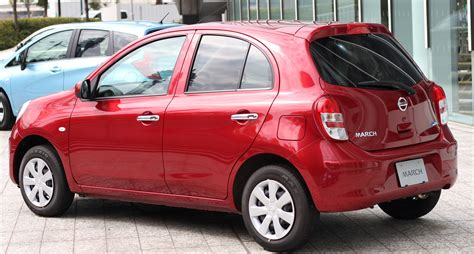 nissan march file nissan march 12x 30th happiness rear jpg wikimedia