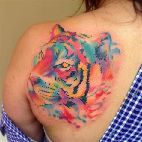 watercolor tiger tattoo watercolor tiger designs ideas and meaning