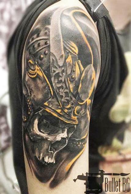samurai skull tattoo 42 samurai skull tattoos designs