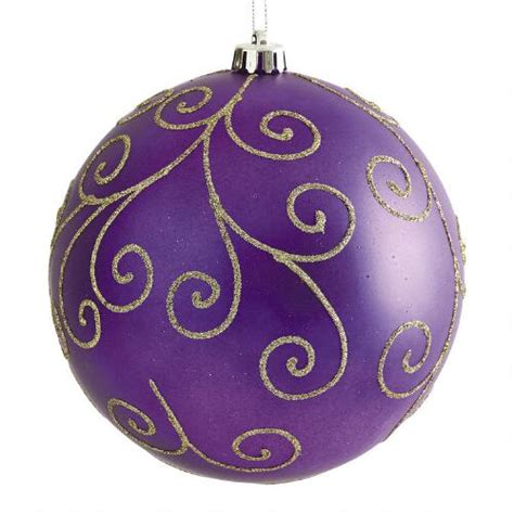 large purple swirl shatterproof ornament christmas tree