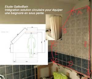 baignoire en sous pente et solution circulaire de