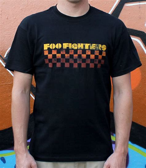 Official Merchandise Band Foo Fighters Tshirt foo fighters checkers foo013 29 00 bandtees official band t shirts band merch and