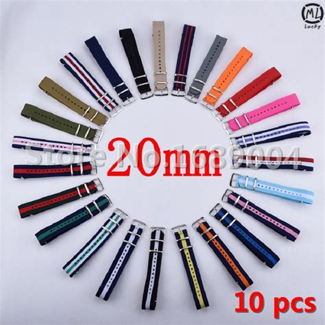 New Tali Jam Nato Canvas 20mm Nato 10 pieces lot 20mm watchband nato strong nato wrist army canvas