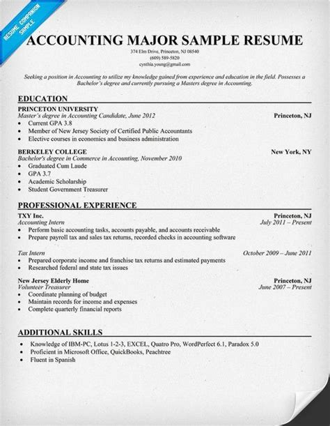 Resume Exles For Majors 60 Best Images About Accounting On Balance Sheet Equation And Student