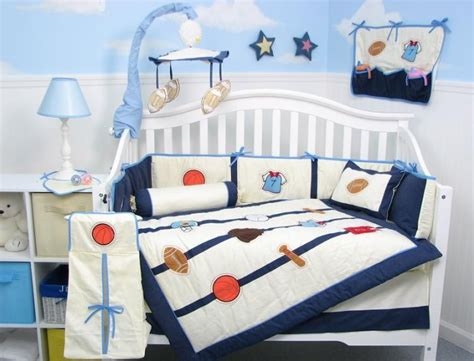 All Star Sports Baby Boy Infant Crib Nursery Bedding Set 15pcs Crib Sports Bedding