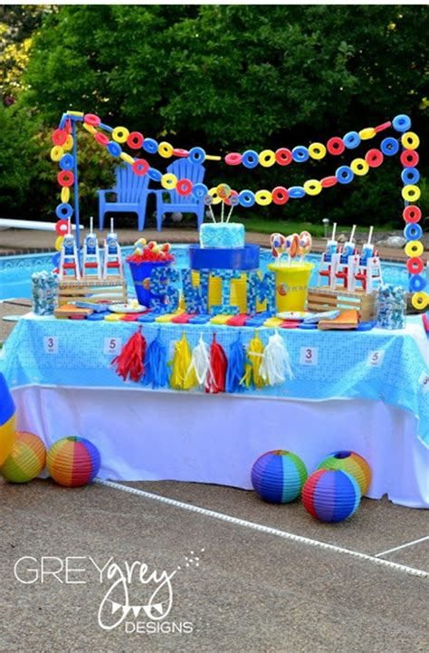 pool theme decorations pool birthday theme thebabyspot ca