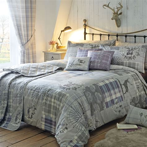 Patchwork Duvet Cover - country tartan patchwork duvet cover set with plaid check