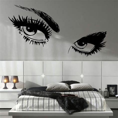 salon wall murals large eye salon wall mural transfer cut