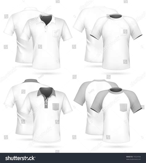 polo t shirt pattern vector vector men s polo shirt and t shirt design template with