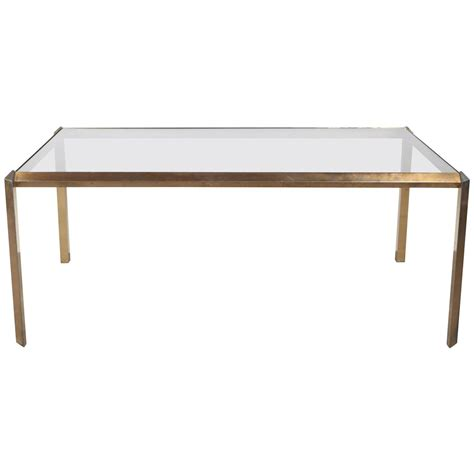 brass and glass mid century dining table at 1stdibs