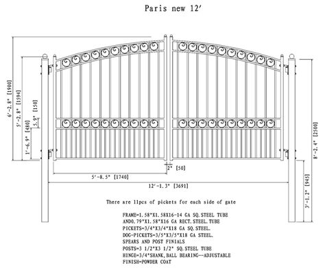 dual swing gate aleko paris style swing dual steel driveway gates 12