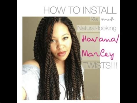 installing marley twist vs senegalese twist how to install natural looking havana marley twists with