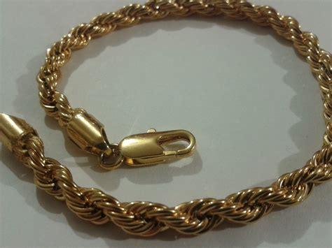 cadena de plata torzal para hombre esclava torzal de oro laminado 18k excelente calidad
