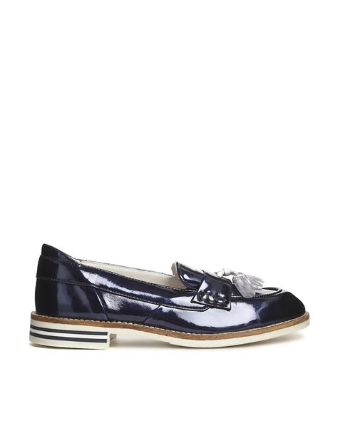 metallic flat shoes swear swear 9 navy metallic loafer flat shoes
