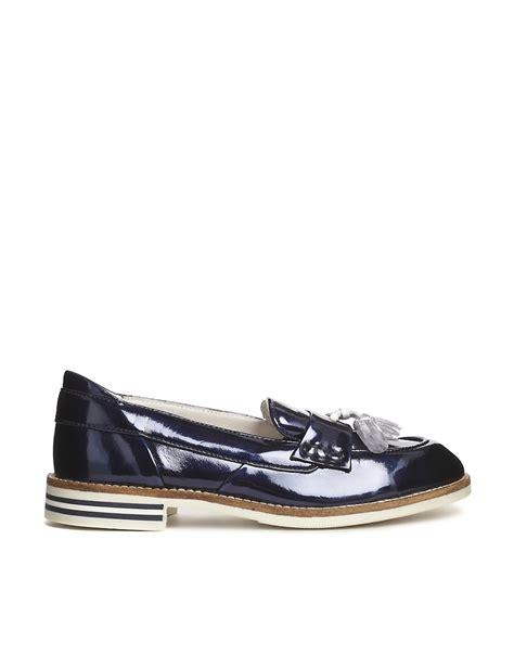 flat metallic shoes swear swear 9 navy metallic loafer flat shoes