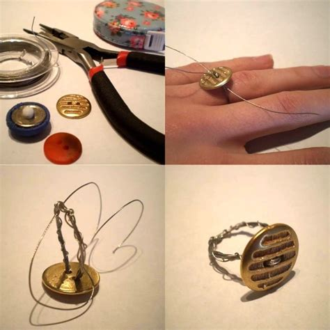 easy simple diy crafts easy jewelry crafts for diy button rings in 3 steps 183 how to make a button ring 183 jewelry
