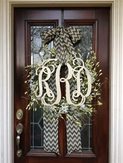 Front Door Monogram Wreath Monogrammed Wreath Wreaths