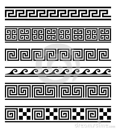 Black And White Striped Vase Greek Frames Vector Collection Stock Vector Image 59970415