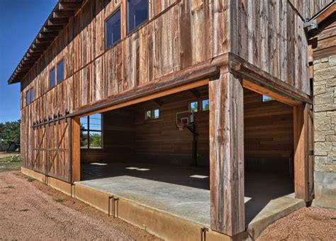 llano ranch rustic home gym austin  cornerstone