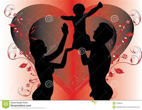 donna e uomo donna e bambino nudi illustrazione vettoriale