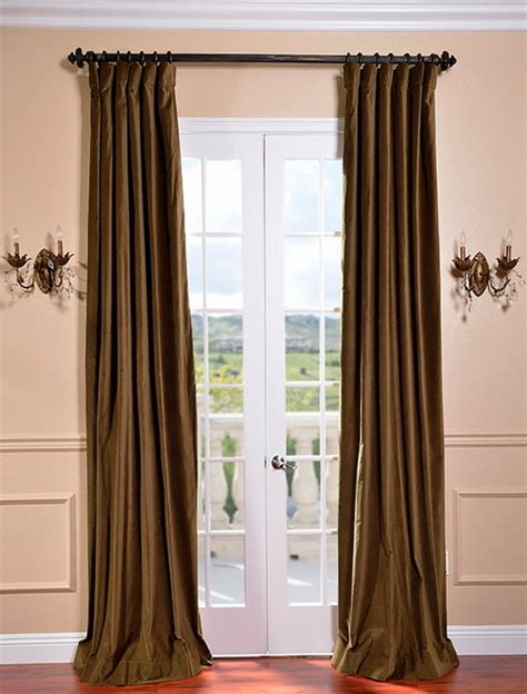 traditional curtains and drapes burnt olive vintage cotton velvet curtain traditional