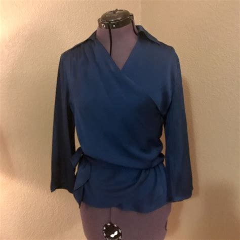 Satin Wrap Top Emerald 89 tops 100 silk wrap blouse in emerald from s closet on