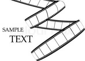 blank film strip on the white background vector colourbox