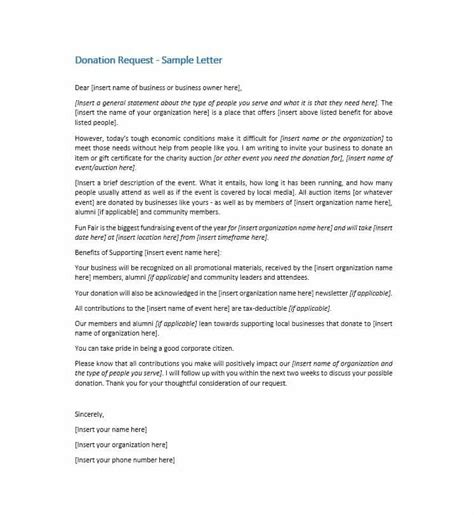 Donation Letter For High School Reunion 43 Free Donation Request Letters Forms Template Lab