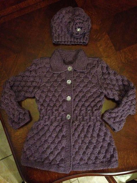 sueter tejidos con agujas para ninas abrigo y gorra en dos agujas su 233 teres y abrigos para