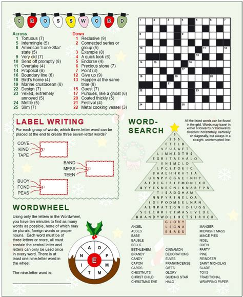 printable christmas logic puzzles for middle school search results for christmas crossword puzzles