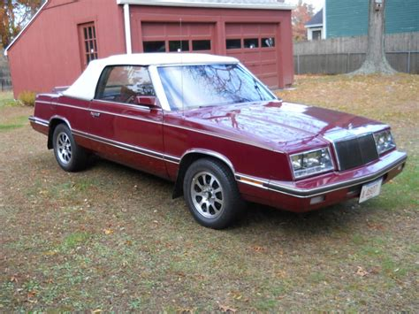 Chrysler Convertible For Sale by 1982 Chrysler Lebaron Convertible For Sale