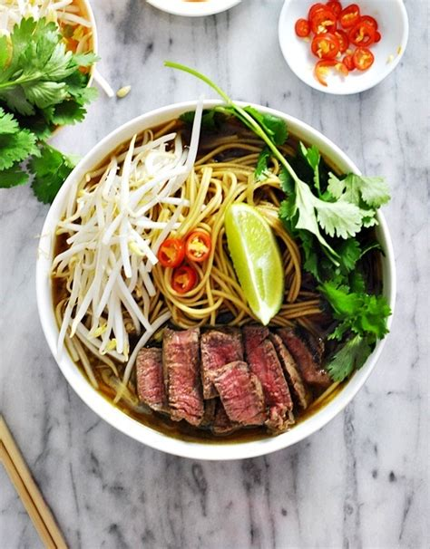 asian beef noodle soup with 5 ingredients beef broth